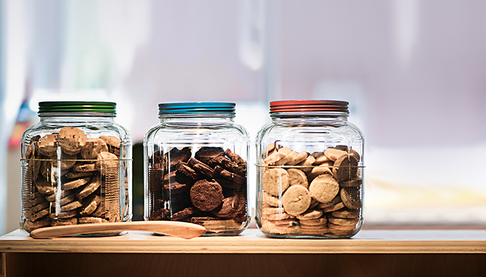 Counting cookies in jars
